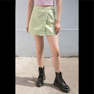 Brandy Melville pastel green Emerson denim skirt